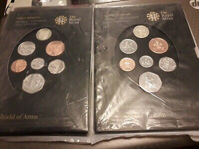 Royal Mint 2008 Shield Of Arms & Emblems Of Britain Coin Sets - Both Sealed