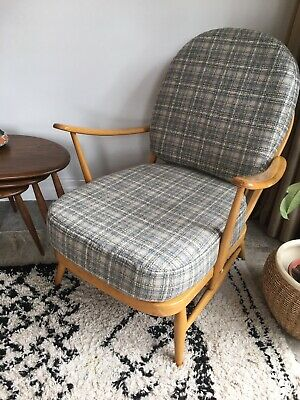 Ercol 203 Blonde Lounge Chair, New Abraham Moon Cushions  FREE DELIVERY*