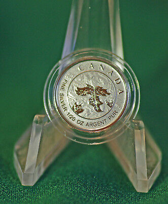 2019 CANADA $1 Silver Maple Leaf 1/20 oz Reverse proof from Fractional set
