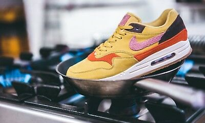 60e58afc43 Nike Air Max 1 Bacon Crepe Gold Pink Brown Sneaker Trainers UK 9 / EU 44