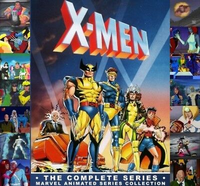 X-Men Volume 1-5 Complete Animated Series DVD Set Marvel Comic Collection 1992