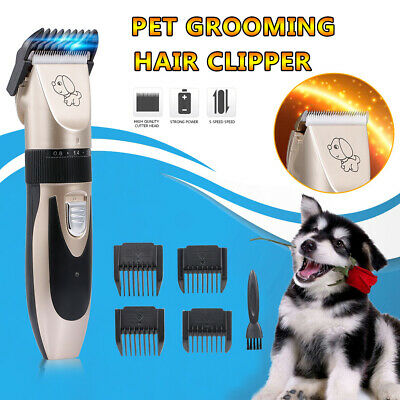 Pet Grooming Hair Clipper Rechargeable Low Noise Cordless Dog Cat Rabbit A6E2