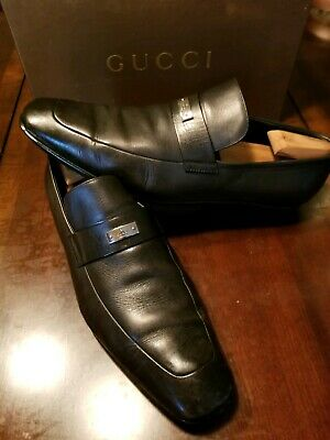 fb87f7ba6 GUCCI MEN'S HORSEBIT Loafers Size 8.5 D Brown Moc Slip On Shoes Made ...