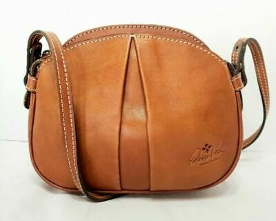 "PATRICIA NASH - ""CHANIA"" ITALIAN BROWN LEATHER CROSSBODY - Excellent !!"