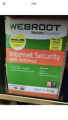 WEBROOT SECUREANYWHERE ANTIVIRUS | 3 YEARS for 5 PC/MAC DEVICES