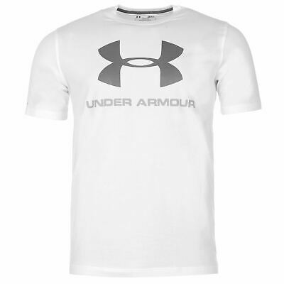 Under Armour Mens Sportstyle Logo T Shirt Crew Neck Tee Top Short Sleeve Loose