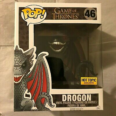 "Funko Pop! Game of Thrones 6"" Red Eyes Drogon #46! Hot Topic Exclusive! *B*"
