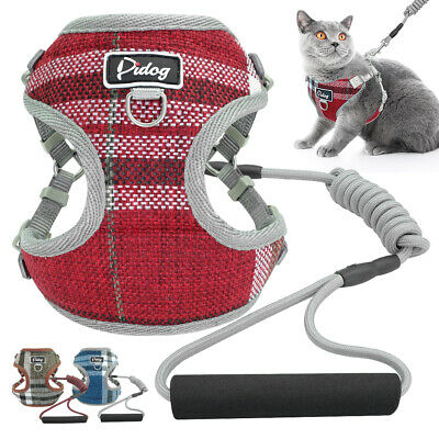 Escape Proof Cat Walking Jacket Harness Leash with Foam Handle Pet Dog Mesh Vest
