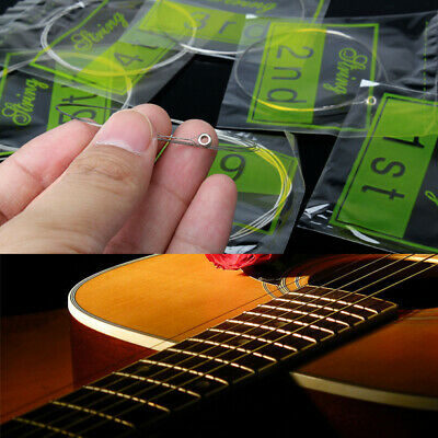 Pro Acoustic Guitar Set of Electric Guitar 6 Steel Strings XL150/.023/009in E