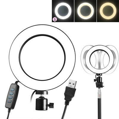 LED Ring Light Dimmable 5500K Lamp Photography Camera Photo Studio Phone Video #