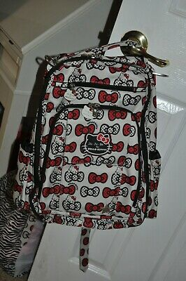 7c6dba660 Ju Ju Be JUJUBE Hello Kitty Peek a Bow Diaper Bag Backpack Diaper Bag