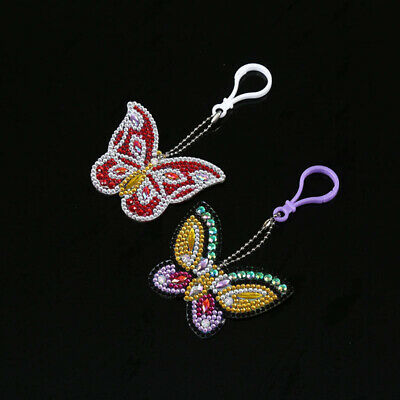 DIY 2PCS EMBROIDERED Butterfly Applique Iron On Sew On Patch