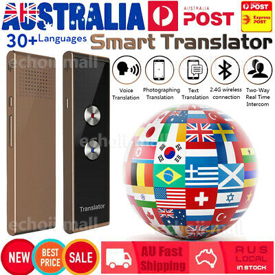 Portable T8 Smart Translator 30+ Language Real-time Intelligent Voice Device AU