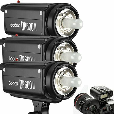 3Pcs Godox DP600II 600W 2.4G Wireless X System Flash Strobe Head + X1T Trigger