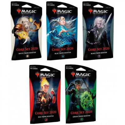 Magic the Gathering Core 2020 Theme Boosters Set of 5