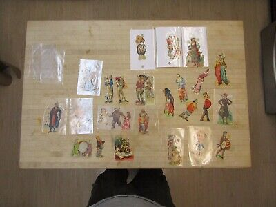 Vintage Victorian Trade Card Lot + Die Cut Characters + Misc
