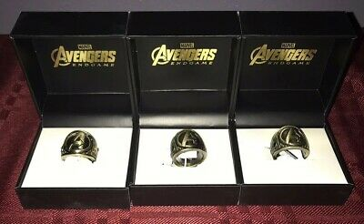 Marvel Avengers End Game Endgame Class Ring Gold-colored Stainless Steel Unisex