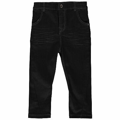 Firetrap Kids Boys Slouch Jeans Infant Straight Pants Trousers Bottoms Zip