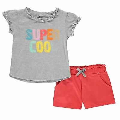 Crafted Kids Girls Infant T Shirt and Shorts Set Clothing Pants Trousers Bottoms
