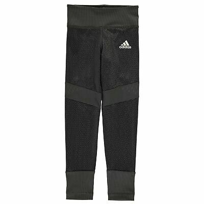 adidas Kids Girls Fave Tights Junior Performance Pants Trousers Bottoms