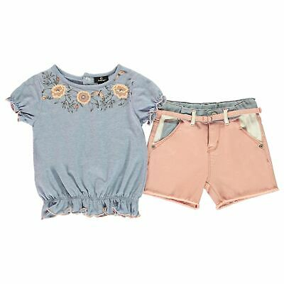Firetrap Kids Girls Shorts Set Infant Clothing Pants Trousers Bottoms Short