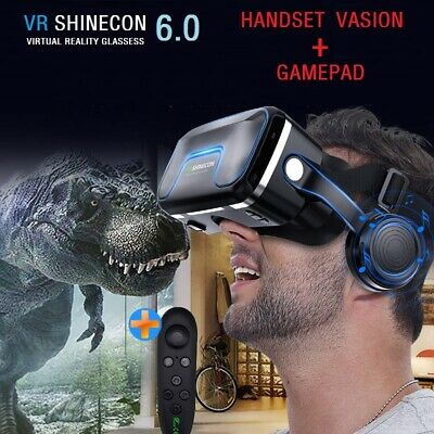 Virtual Reality Headset 360 VR 3D Glasses with Headset Remote Controller