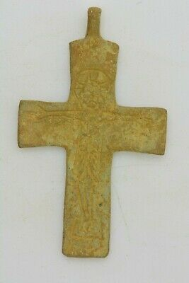 Byzantine bronze cross Jesus Christ crucified 10th century AD