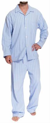 British Boxers Mens Westwood Two Fold Flannel Pyjamas - Blue