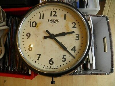 Smiths Sectric Electric Wall Clock Bakelite 1930s School Waiting Room Industrial