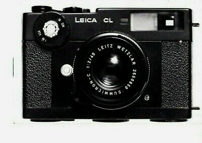 Genuine 1973 Mini Leica Cl Camera Brochure 4 A7 Pages