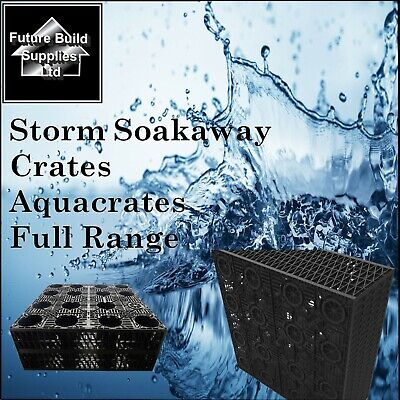Geotextile Wrap Included 1200L 3 X Attenuation Soakaway Storm Water Crates