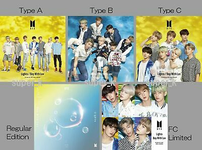 BTS (Bangtan Boys) Japan 10th Single [Lights/Boy With Luv] 5types Album Set