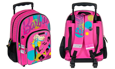 4ae039dfb BARBIE TROLLEY School Bag Backpack on wheels wheeled bag licensed SALE  ORGINAL