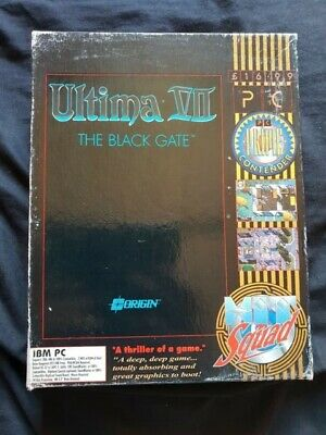 ULTIMA VII THE BLACK GATE Big Box and Books ONLY PC Game NO GAME