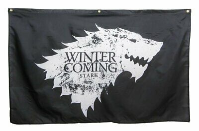 Game of Thrones House Banner Flag(Stark) 3' X 5'