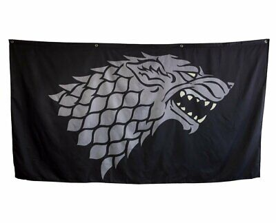 "Game of Thrones House Sigil Giant Banner Flag(62"" by 118"") (Stark)"