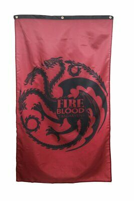 Game of Thrones Home Decor Banner - Targaryen House Dragon 3' x 5'