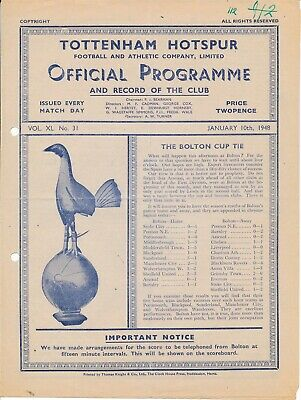 Tottenham Reserves v Southend United (Combination Cup) 1947/8