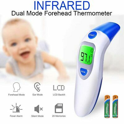 Digital LCD Forehead and Ear Thermometer 3 IN 1IR Infrared Medical Memory Recall