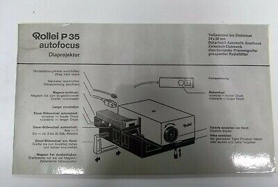 Rollei P 35 Autofocus Slide Projector Instruction Manual Book Genuine Original