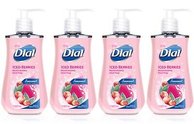 4 Dial Liquid Hand Soap ICED BERRIES Seasonal Limited Edition 7.5 oz