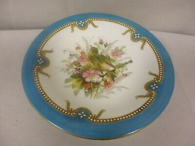 Antique Worcester Hand Painted Birds China Jewel Decoration- Cake Stand (Tr)
