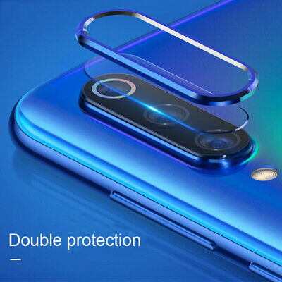 For Xiaomi Redmi Note 7 Camera Protector Lens Case Metal Circle Ring +Glass Film