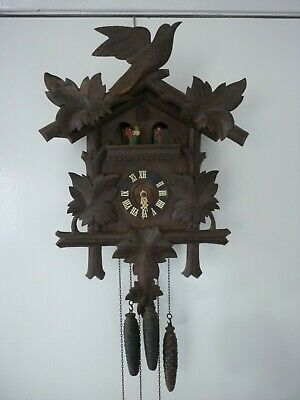 Antique Black Forest Large Musical Cuckoo Clock. Not Working. Spares Or Repair.