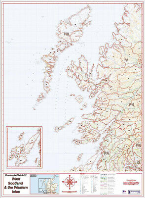 Postcode District Map 2 - West Scotland & Western Isles