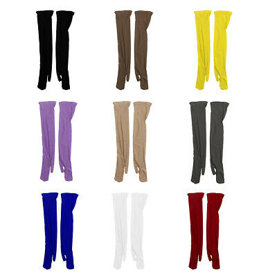 Silky Stretchy Long Mittens Gloves Ultra Thin Sheer Unisex Gloves Sun Protect