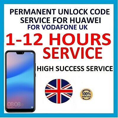Unlock Code Service For Huawei MediaPad 10 T2 T3 M2 Vodafone UK