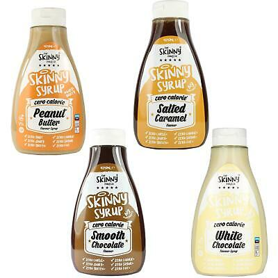 Skinny Food Zero Calories Syrup Set White Chocolate Salted Caramel Peanut Butter