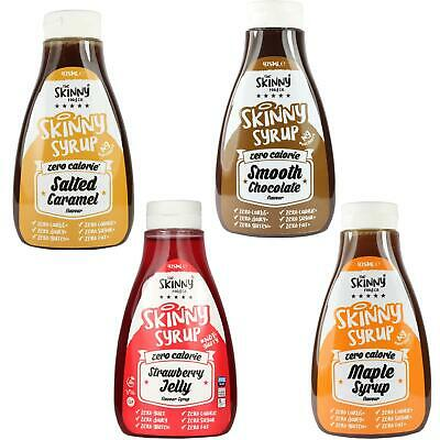 Skinny Food Zero Calories Pancake Syrup Pack Maple Strawberry Chocolate Caramel