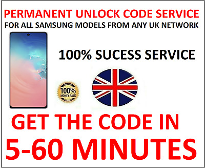 Unlock Code For Samsung Galaxy A10 A20e A30 A40 A50 A60 A70 EE VODAFONE O2 BT UK